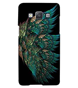 ColourCraft Peacock Feather Design Back Case Cover for SAMSUNG GALAXY A7
