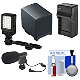 Essentials Bundle for Canon Vixia HF G20, G30, G40 Camcorder with LED Light & Bracket + Mic + BP-820 Battery & Charger + Accessory Kit