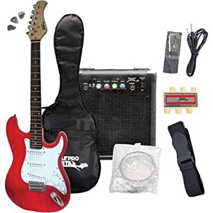 electric guitar beginner kits pyle pro pegkt15r beginner electric guitar package red. Black Bedroom Furniture Sets. Home Design Ideas