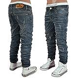 ST-610 SQUARED & CUBED Jeans Hose Junge Kinder darkgrey 128-176