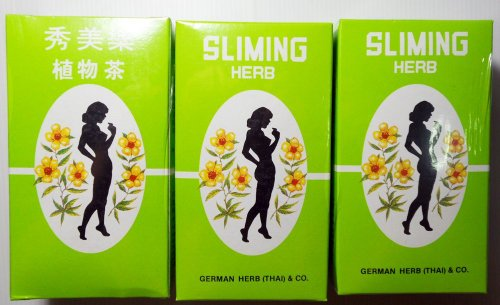 (3 Packs) Best Seller.. 50 Tea Bags Slimming German Herb Sliming Tea Lose Weight Burn Diet Slim Fit Fast Detox..With Complimentary