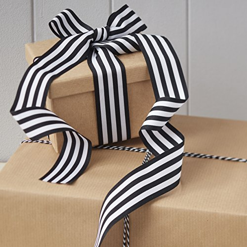 ginger-ray-black-and-white-stripped-ribbon-with-butchers-twine-vintage-noel