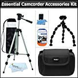 Essential Accessory Kit For Sanyo VPC-CG102 VPC-HD2000A VPC-CS1 VPC-CG10 VPC-CG20 VPC-PD2BK VPC-CA102 Xacti HD1000 HD Camcorder Includes 50