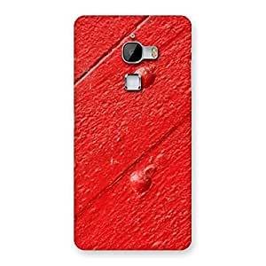 Red Texture Wood Print Back Case Cover for LeTv Le Max