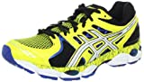 ASICS Men's GEL-Nimbus 14 L.E. Running Shoe,Yellow/White/Blue,10.5 D US