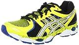 ASICS Men's GEL-Nimbus 14 L.E. Running Shoe,Yellow/White/Blue,10 D US