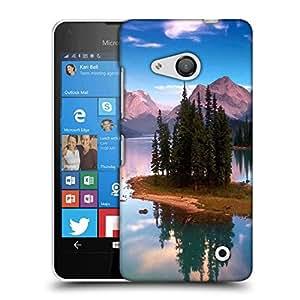 Snoogg Treea And Lake Designer Protective Phone Back Case Cover For Nokia Lumia 550
