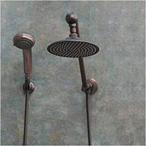Atlantis 6 Oil Rub Bronze Rain Shower Head Combination