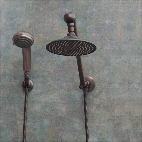 Atlantis 6 Oil Rub Bronze Rain Shower Head Combination Jshdksjhgk