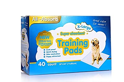 All-absorb Extra Large Training Pads 28-inch By 34-inch, 40-count