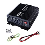 ERAYAK 800W Power Inverter 3 US Outlets,3.1A Dual USB Charging Ports w/ Alligator Clips Battery Clamps Cable,DC12V to AC110V,for Computers,Blender,Refrigerator,Drill,Game Console,TV,Fan,Cooler-8098U