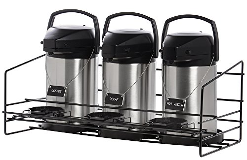 Hubert Wire Airpot Rack With Drip Tray, Holds 3 Airpots (Airpots Not Included)