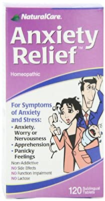 NaturalCare Homeopathic Anxiety Relief , 120 Sublingual Tablets