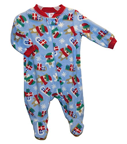 Baby Boys' Christmas Fleece Footed Bodysuit Dog / Puppy Shed Pajamas