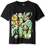 Teenage Mutant Ninja Turtles Big Boys' Turtles Tee Shirt, Black, Medium