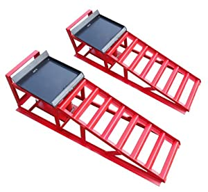 auffahrrampe rampe paar rot inkl 2 x hydraulik. Black Bedroom Furniture Sets. Home Design Ideas
