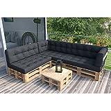 Palettenkissen Palettenmöbel Ecksofa Couch Sitzecke inkl. Europalette Palettensofa Palettenpolster Kissen