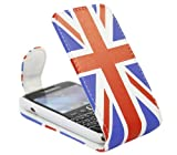 ITALKonline BlackBerry 9790 Bold Union Jack PU Leather Executive Multi-Function Vertical Flip Wallet Case Cover Organiser