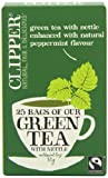 Clipper Green Tea with Nettle 25 Teabags (Pack of 6, Total 150 Teabags)