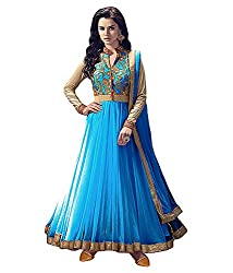 SHOP PLAZA Beautiful Designer Sky Blue Salwer Suit Dress Material