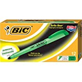BIC Brite Liner Highlighter, Chisel Tip, Green, 12-Count