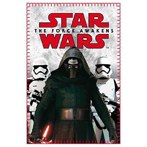 Disney Star Wars - Coperta in pile plaid morbido 100x150cm Kylo Ren Assaltatori