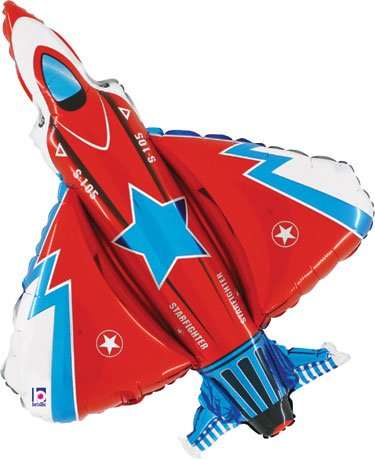 Fighter Jet Foil Shaped Balloon - 1