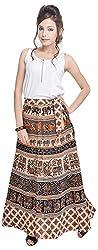 Soundarya Women's Cotton Wrap Skirt (6042, Long)