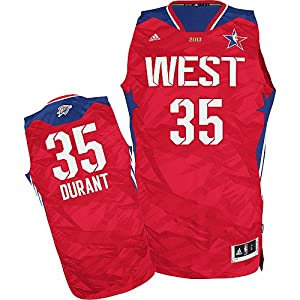 Buy Kevin Durant Oklahoma City Thunder 2013 NBA All Star Game Western Conference Youth Swingman Jersey (Youth L 14-16) by adidas