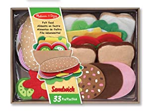 Melissa & Doug Felt Food - Sandwich Set