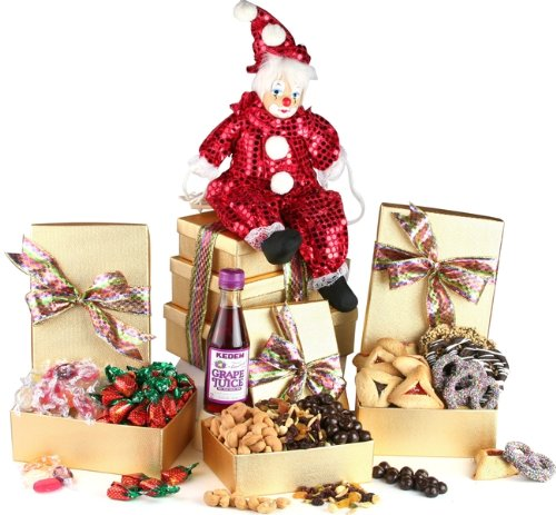 Mishloach Manot, Very Merry Purim Trio Tower Purim Basket