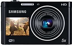 Samsung DV300F Smart-Digitalkamera (16 Megapixel, 5-fach opt. Zoom, 6,7 cm (3 Zoll) Display, Wifi, DualView) schwarz