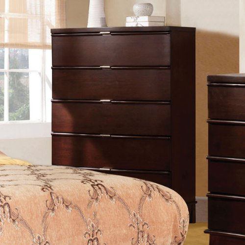 Cerano Contemporary Style Brown Cherry Finish Bedroom Chest front-889649