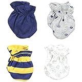 Gerber Baby-Boys Newborn 4 Pack Mittens Sports, Blue, 0-3 Months