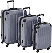 HAUPTSTADTKOFFER Luggages Sets Glossy Suitcase Sets Hardside Spinner Trolley Expandable (20