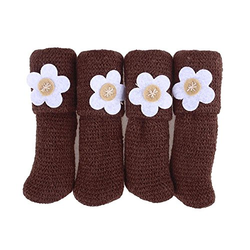 4Pcs Florets Anti Scratch Furniture Table Chair Foot Leg Cover Protective Sleeve