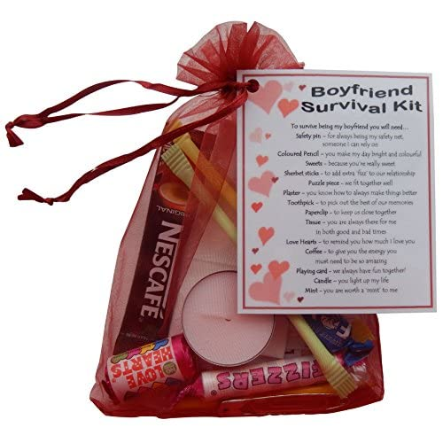 Boyfriend Survival Kit Gift (Great novelty present for Birthday, Christmas, Anniversary or just because...)