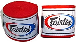 "FAIRTEX ELASTIC COTTON HANDWRAPS HW2-180""-full Length Hand Wraps-black/red/Blue/White by FAIRTEX COMPANY LTD"