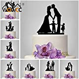 Generic 04 : Family Style Cake Topper Personalized Classic Couple Wedding Party / Birthday Party / Anniversary...