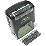 Security ID Theft Protection Office Self-Inking Rubber Stamp - L