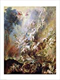 The Fall of the Damned by Peter Paul Rubens Double Sided Laminate, 18 x 24 inches