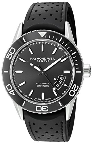 Raymond-Weil-Mens-Freelancer-Swiss-Automatic-Stainless-Steel-and-Rubber-Casual-Watch-ColorBlack-Model-2760-SR1-20001