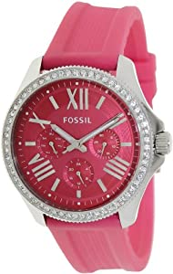 Cecile Multifunction Silicone Watch - Pink