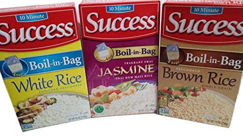 Success Rice, 10 Minute, Boil-In-Bag, Jasmine, Brown, White 4 Bags per Box (Pack of 3) (Boil In The Bag Rice compare prices)