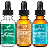 Art Naturals® Anti-Aging Set: Vitamin C Serum( 1.0 oz), Retinol Serum (1.0 oz) & Hyaluronic Acid Serum (1.0 oz) for Anti Wrinkle and Dark Circle Remover