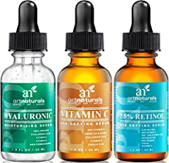 Our 20% Vitamin C Serum has proven its unsurpassed quality and organic effectiveness, while becoming a trusted aid in the elimination of fine lines, wrinkles, dark circles, and sun damage. Our Retinol (Vitamin A) Serum, a powerful collagen boosting a...