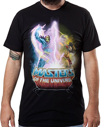 Officially Licensed Mad Engine Men's He-Man Vs. Skeletor T-Shirt - S to XXL