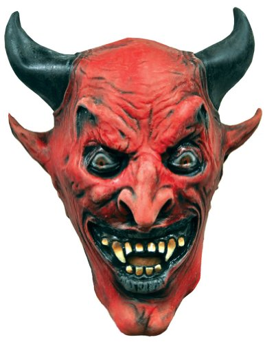 Scary-Masks Devil Mask Halloween Costume - Most Adults