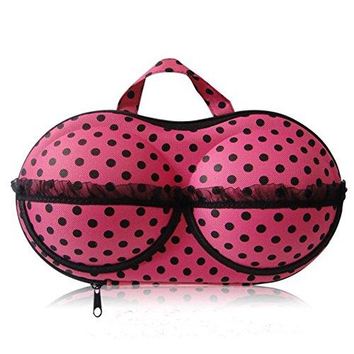 LifeJoy protéger soutien-gorge sous-vêtements Lingerie cas Organisateur Sac de voyage pour rangement & (Noir/Rose Point)