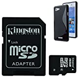 Bundle 16 GB Kingston Genuine Micro SD SDHC Memory Card With Adapter Case For Sony Xperia E3 D2202